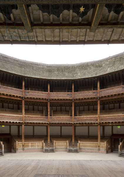 View from the stage, Shakespeare's Globe Theatre, Southwark, London, UK (photo)