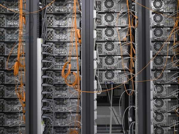 Computer Farm, European Organization for Nuclear Research, Geneva, Switzerland (photo)