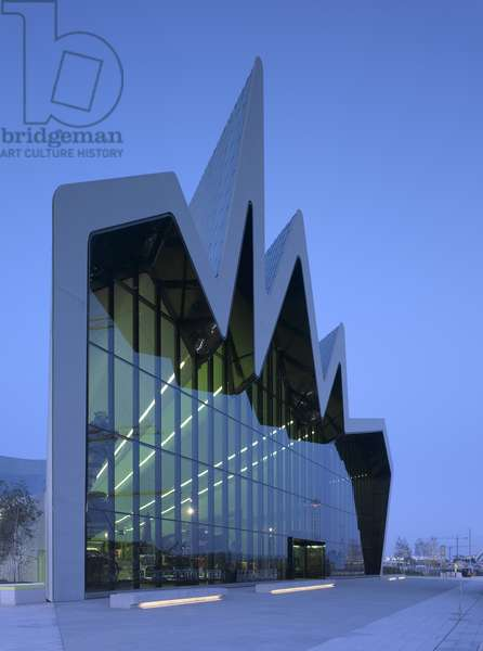 View of the Riverside Museum for Transport, Glasgow, Scotland (photo)