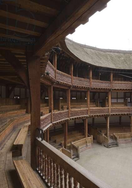 Shakespeare's Globe, Upper level stalls, Southwark, London, UK (photo)