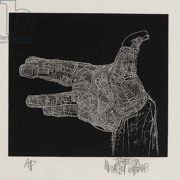 Hand (woodcut on paper)