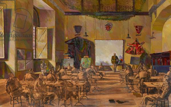 D-Day Preparations (Briefings), 1944 (oil on canvas)