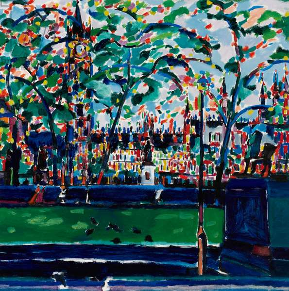 Parliament Square, 1988 (oil on canvas)