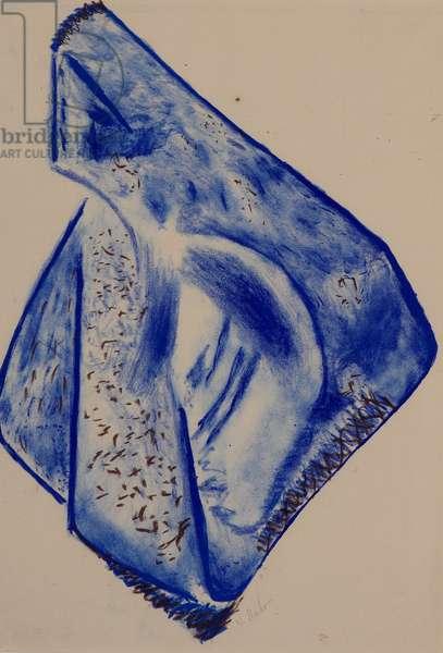 Opus XIX (Composition in Blue), 1969 (colour litho)