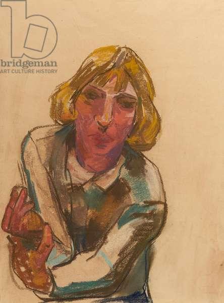 Frau Trautz Schranz, 1951 (pastel on paper)