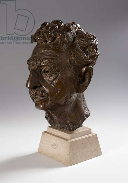 Sholem Asch, 1953 (bronze on stone base)