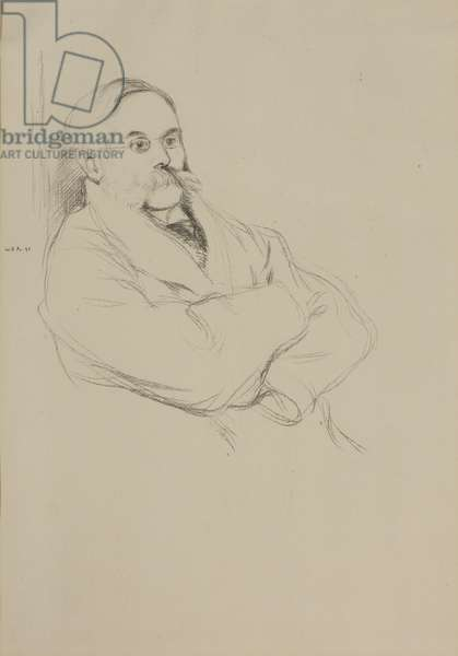 Portrait of Moritz Rothenstein, 1896 (pencil on paper)