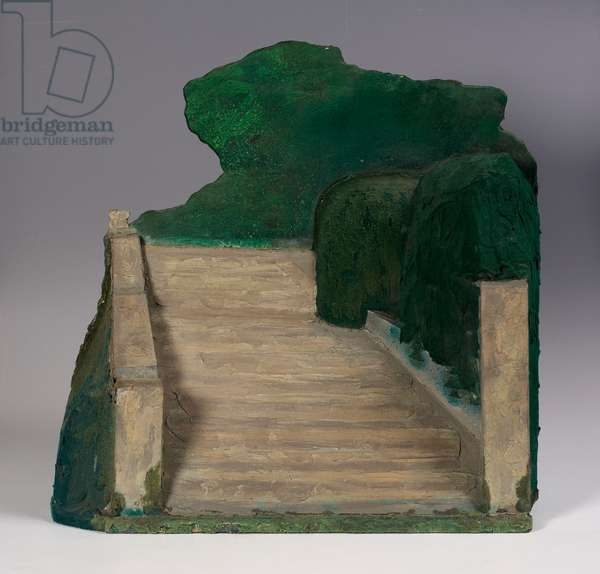 Garden Steps, 1973 (flock and PVA on board)