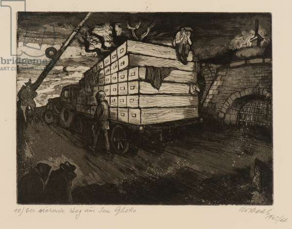 Terezín-Theresienstadt (Jew Ghetto), 1945/66 (drypoint and aquatint on paper)
