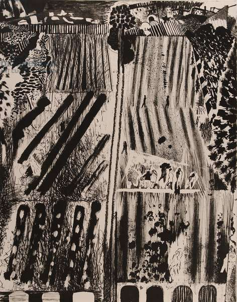 Walking About, 1985 (litho)