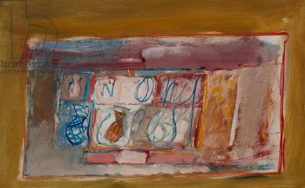 Composition (gouache on paper)