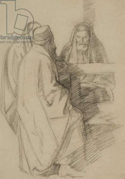 Talmudic Discussion, c.1905 (pencil on paper)
