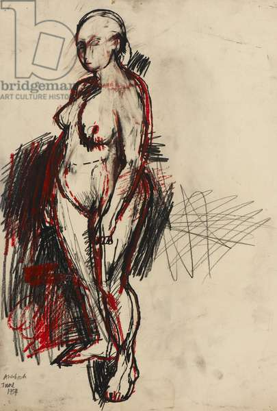 Nude Standing, 1954 (crayon on paper)
