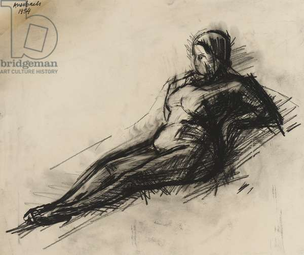 Nude, 1954 (charcoal on paper)