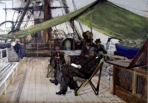 On Board the 'Magdala', 1881 (w/c on paper)