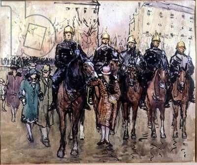 The Municipal Guard, Paris, c.1920s (w/c on paper)