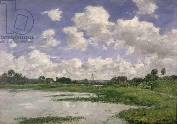Landscape, River Touques, 1891 (oil on canvas)
