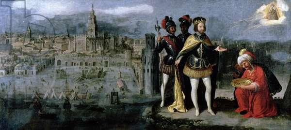 Capture of Seville by Ferdinand III (c.1201-52), c.1625-35 (oil on canvas)