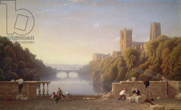 Durham Cathedral from Prebend's Bridge (oil on canvas)