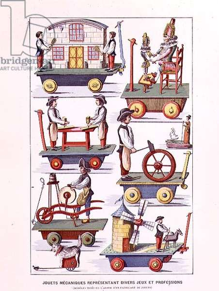 """Mechanical Toy Catalogue from """"Histoire des Jouets"""" by Henri d'Allemagne"""