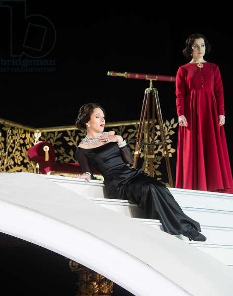 Mary Bevan as Elvira and Katie Bray as Zulma in L'Italiana in Algeri at Garsington Opera