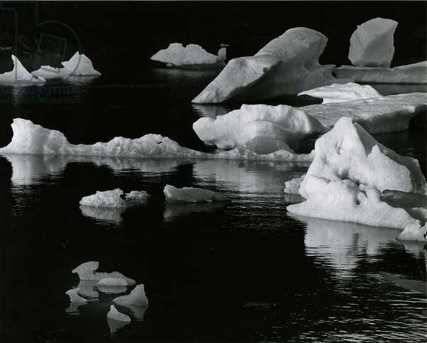 Mendenhall Glacier, Alaska, 1973 (silver gelatin print)