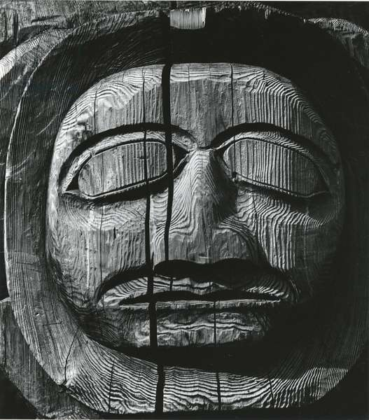 Totem Head, Alaska, 1973 (silver gelatin print)