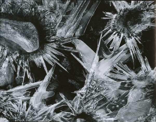 Ice and Rock, c. 1970 (silver gelatin print)