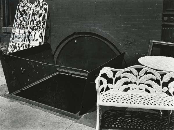 Bench and Sidewalk, New York, 1943 (silver gelatin print)