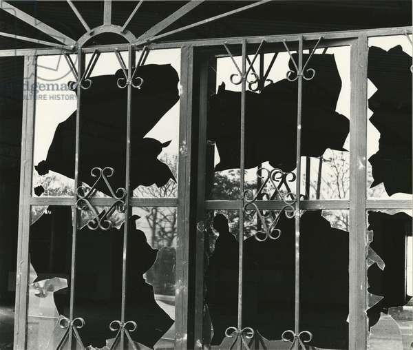Broken Window and Metal, 1976 (silver gelatin print)