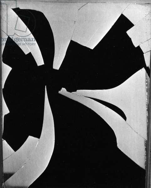 Broken Window, 1971 (silver gelatin print)