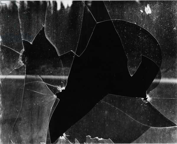 Broken Window, 1969 (silver gelatin print)