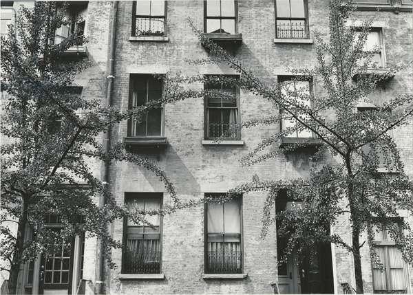 Apartment Building, New York, 1944 (silver gelatin print)