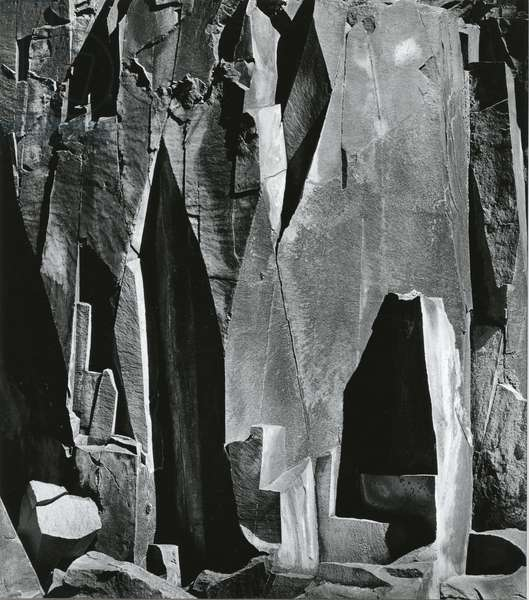 Rock Wall, Westgard Pass, California, 1971 (silver gelatin print)