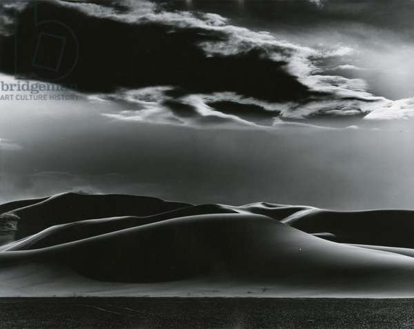 Dunes and Clouds, Shoshone, 1969 (silver gelatin print)