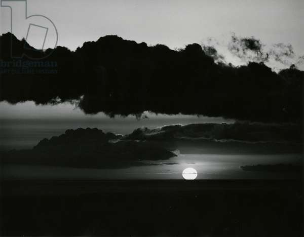 Clouds and Sun, Skyscape, c. 1975 (silver gelatin print)