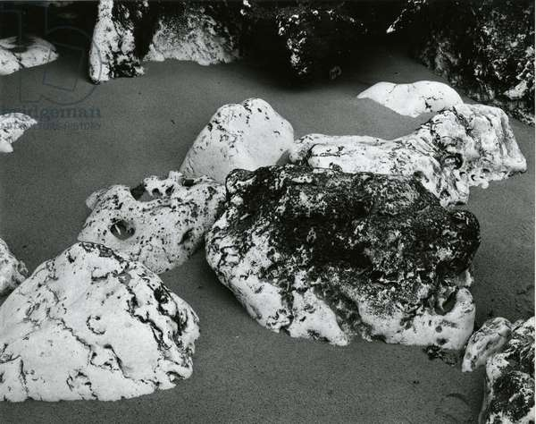 Rock and Sand, Europe, 1971 (silver gelatin print)