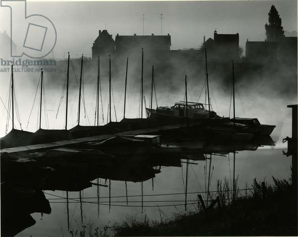 Boats, Harbour, Netherlands, 1960 (silver gelatin print)