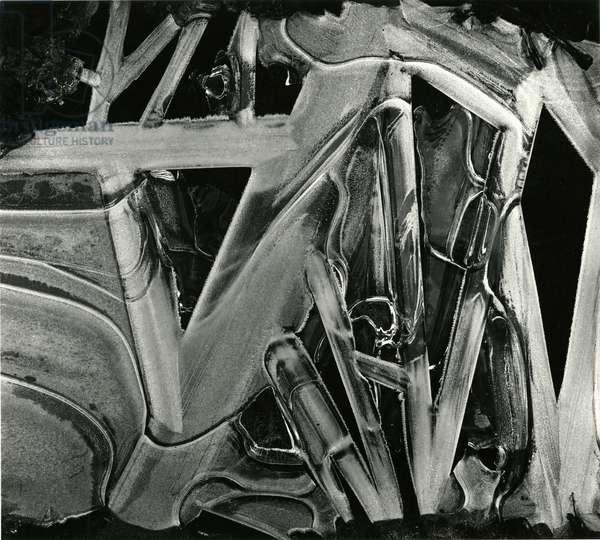 Ice and Rock, Oregon, 1971 (silver gelatin print)