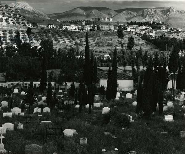 Cemetery, Landscape, Spain, c.1960 (silver gelatin print)