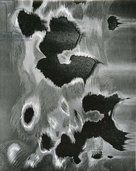 Metal Abrasion, c. 1970 (silver gelatin print)