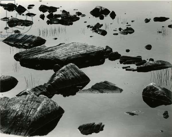Rock and Water, Scotland, 1960 (silver gelatin print)