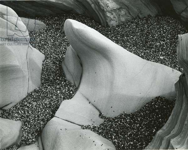 Rock and Pebbles, California, 1966 (silver gelatin print)