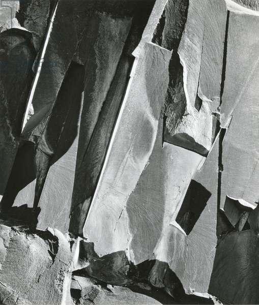 Rock Wall, 1971 (silver gelatin print)