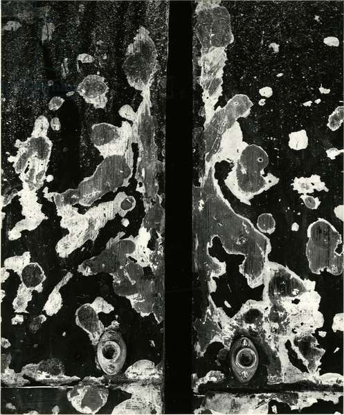 Cracked Paint, Portugal, 1971 (silver gelatin print)