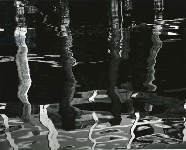 Reflections, Pier, 1971 (silver gelatin print)