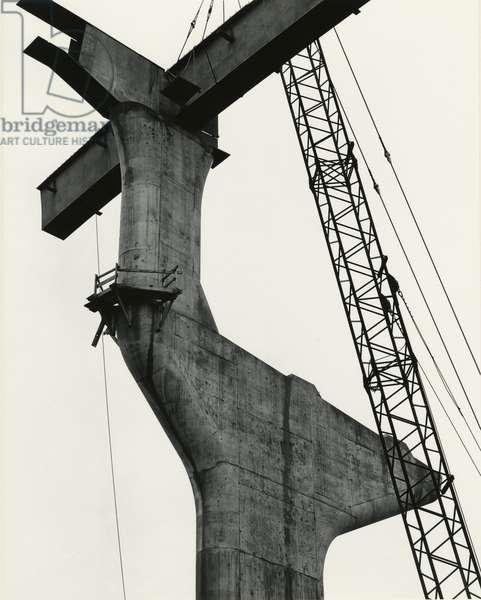 Fremont Bridge, Portland, 1971 (silver gelatin print)
