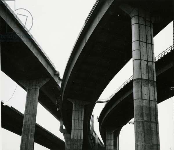 Overpass, Oregon, 1970 (silver gelatin print)