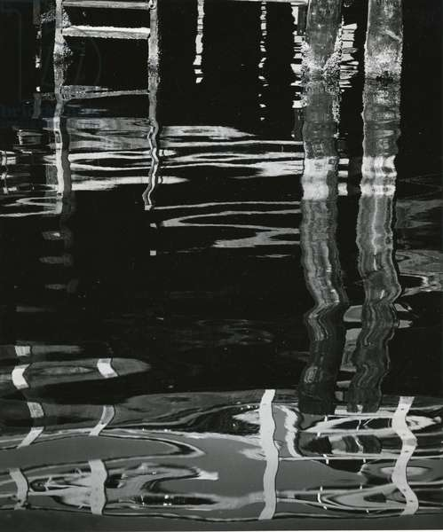 Dock and Water, Reflections, 1971 (silver gelatin print)