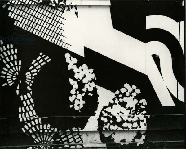 Paint and Wall, c.1970 (silver gelatin print)